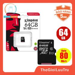 Thẻ nhớ micro SD king ston 64GB class 10 - Tem FPT Vĩnh xuân