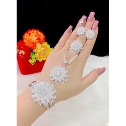 Bộ trang sức 4 món xi bạch kim cao cấp