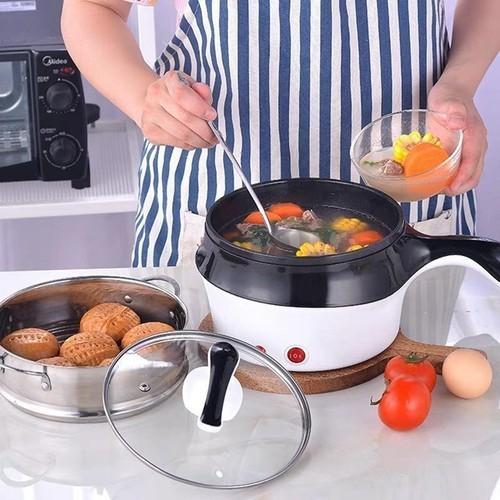 Nồi lẩu mini - ca nấu có tầng hấp đa năng