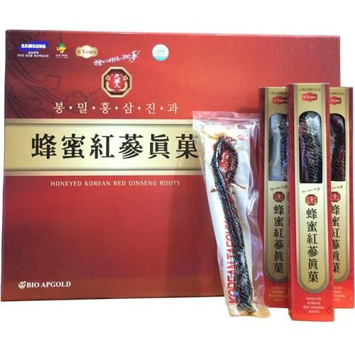 Hồng sâm tẩm mật ong honeyed korean red ginseng roots 200g