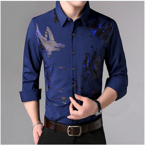 [Sieeu sale]áo sơ mi nam thời trang - vải lụa 3d cao cấp - hàng xuất khẩu