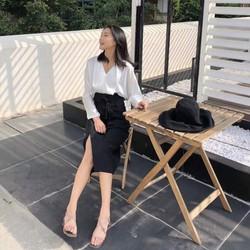 Chân váy xẻ vạt Rosara SP16