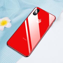 [ MIỄN VẬN CHUYỂN] Ốp lưng IPHONE X , XS, Xs Max mặt lưng kính chống trầy xước, ốp iphone x sang trọng in logo tao ốp x ip xs max đẹp màu sắc chân thực