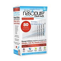 Nasopure Value Refill Kit Hộp gồm 80 tuýp muối Made in USA sản xuất và đóng gói tại Mỹ