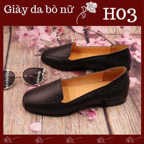 [Giày nữ công sở cao cấp h03] giày da bò nguyên miếng mềm mịn, đế cao su pha kếp mèm êm có thể bẻ cong 360 độ, phong cách thời trang thanh lịch-sansi
