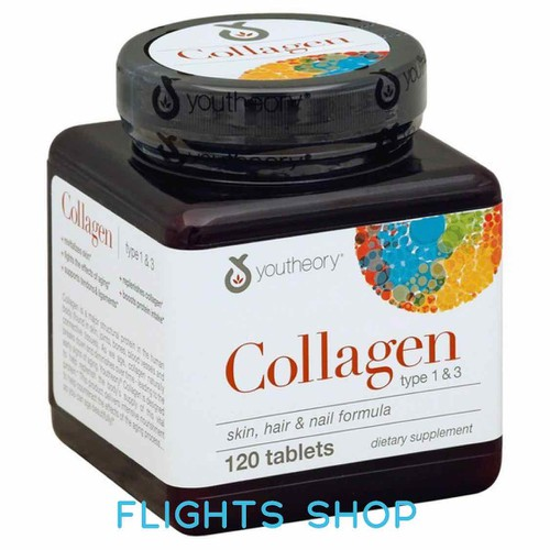 Viên uống đẹp da tóc móng collagen youtheory hộp 120v hàng mỹ