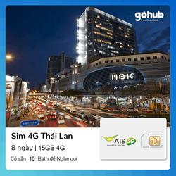 Sim du lịch Thái Lan AIS 8 ngày 15GB - Sim Thái Lan - Sim Thái