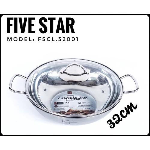 [Được kiểm tra hàng] chảo lẩu inox fivestar 32cm