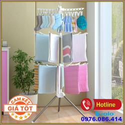 Cây phơi quần áo 3 tầng đa năng tiện dụng