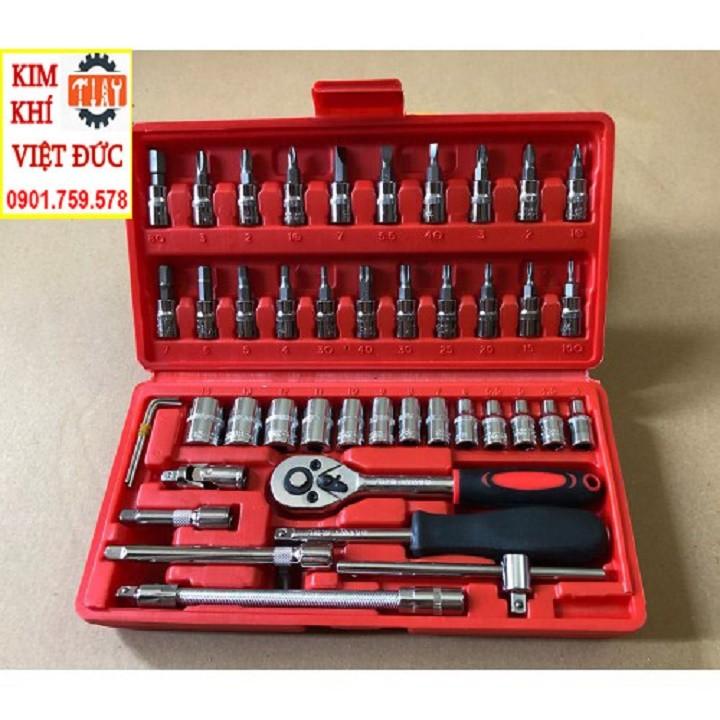 Bộ dụng cụ sửa chữa ô tô xe máy, bộ dụng cụ mở bu lông ốc vít, bộ dụng cụ đa năng 46 chi tiết [LOẠI TỐT] - Bộ dụng cụ 46 chi tiết
