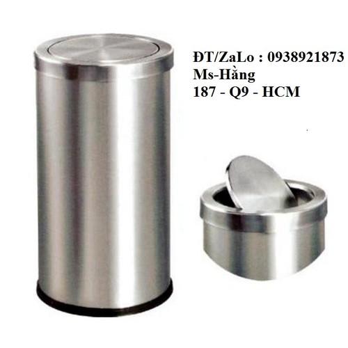 Thùng rác tròn nắp  lật inox cao cấp - 21098594 , 24240329 , 15_24240329 , 850000 , Thung-rac-tron-nap-lat-inox-cao-cap-15_24240329 , sendo.vn , Thùng rác tròn nắp  lật inox cao cấp