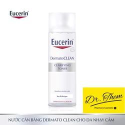 [CHÍNH HÃNG] Nước Hoa Hồng Eucerin Cân Bằng Cho Da Nhạy Cảm Eucerin DermatoCLEAN Clarifying Toner 200ml