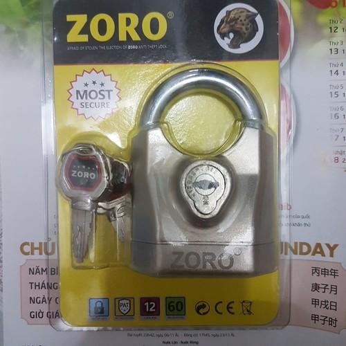 Ổ khóa zoro báo động chống cắt chính hãng