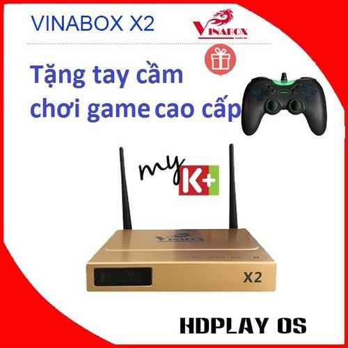 Android tivi box vinabox x2 + tặng tay game cao cấp