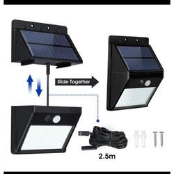 Tặng kèm dây nối 2,5m  - Đèn Led thông minh có thể Tách đôi 2 phần năng lượng mặt trời chống nước , dây dài 2,5 mét, cảm biến chống trộm 20 Led 3 chế độ[ siêu sáng, sáng yếu, luôn sáng] lắp đặt mọi nơi trong nhà và ngoài trời
