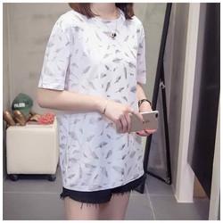 áo thun big size màu trắng lông vũ size 75-95kg