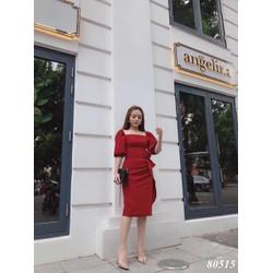 Đầm ôm tay dài vải lụa Umi korea size co giãn 40-60kg th
