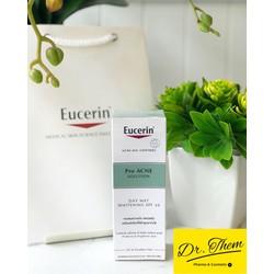 [Chính Hãng] Kem Dưỡng Trắng Da Giảm Mụn Eucerin ProAcne Day Mat Whitening SPF30 50ml - Pro acne