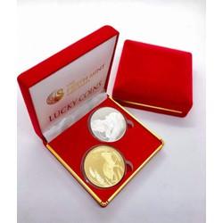 Bộ tiền xu Úc hình con Chuột Vàng Bạc giá rẻ + hộp nhung nền đỏ sang trọng