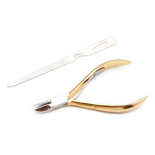 Kềm cắt bấm móng tay bán nguyệt inox 304 kèm dũa to