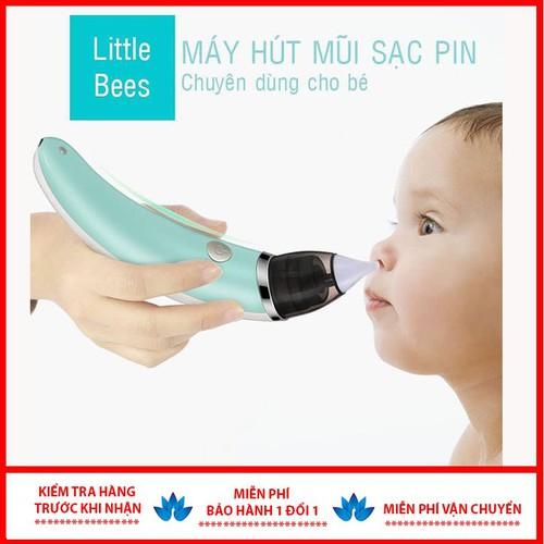Máy hút mũi sặc pin đầu mềm mại cho bé yêu
