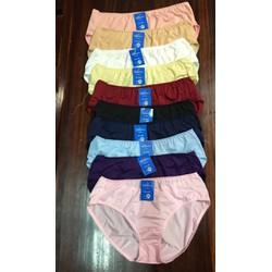Set 10 quần lót nữ BIG SIZE Thun lạnh Cạp cao Hàng Việt Nam Từ 55kg đến 100kg Hàng Việt Nam