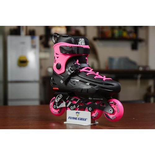 Giày patin flying egle b5s hồng tặng kèm 2 bánh đèn 120k+ tất chuyên dụng 100k