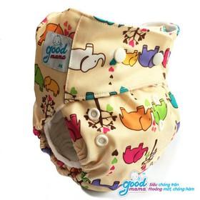 Combo 2 bỉm vải ban ngày và 1 miếng lót ban đêm cho bé 3-12kg - 2MN và 1 lót M đêm
