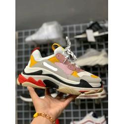 Giày Triple S hồng vàng