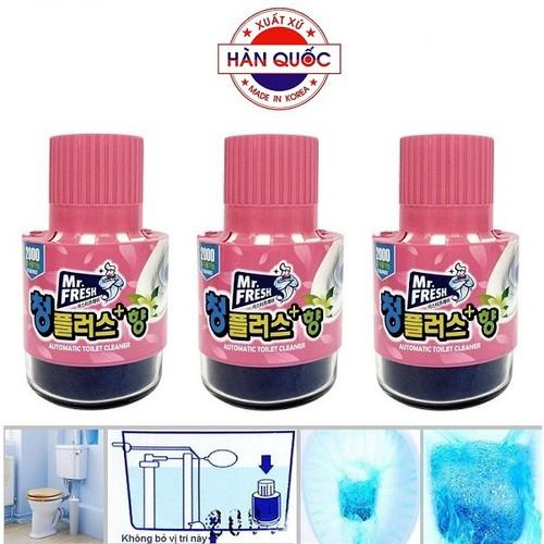 Bộ 3 chai thả bồn cầu diệt khuẩn và làm thơm hương hoa ly mr.fresh - 19654861 , 24766460 , 15_24766460 , 180000 , Bo-3-chai-tha-bon-cau-diet-khuan-va-lam-thom-huong-hoa-ly-mr.fresh-15_24766460 , sendo.vn , Bộ 3 chai thả bồn cầu diệt khuẩn và làm thơm hương hoa ly mr.fresh