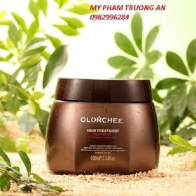 Kem hấp ủ tóc Olorchee phục hồi mềm mượt 1000ml và 1 mũ ủ tóc - Kem hấp ủ tóc Olorchee