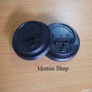 Bịch 50 Nắp Đen Cao Cấp Đk 80mm Dùng Ly Cafe - N80mm thumbnail
