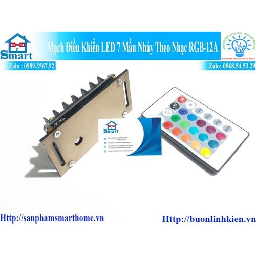 Mạch điều khiển led 7 mầu nháy theo nhạc rgb-12a  - lt13