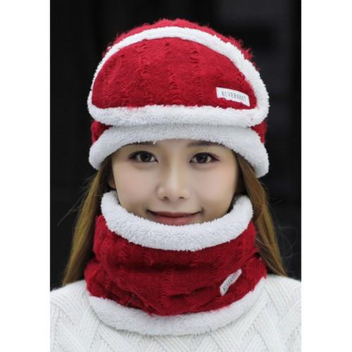Combo nón và khăn cổ và khẩu trang len