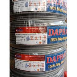 Dây điện đôi 2x1.0 Daphaco -100m dây pha tròn xám 2lớp vỏ bọc PVC