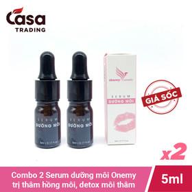 Combo 2 chai Serum siêu dưỡng môi 5ml Onemy siêu thấm trị thâm hồng môi detox môi thâm - Onemy-moicombo2