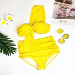 Bikini 2 mảnh màu vàng nóng bỏng