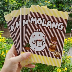 1 quyển vở Molang Donut khổ A5 bìa cán mờ - vở học sinh - vở kẻ ngang - vở viết