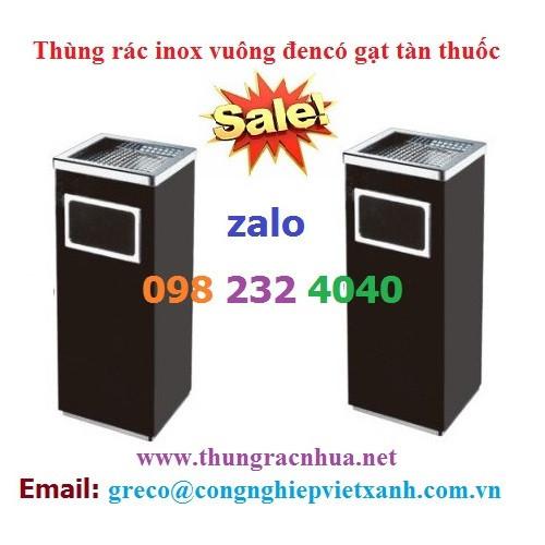 Thùng rác inox vuông đen giá rẻ - 19705759 , 24829659 , 15_24829659 , 500000 , Thung-rac-inox-vuong-den-gia-re-15_24829659 , sendo.vn , Thùng rác inox vuông đen giá rẻ