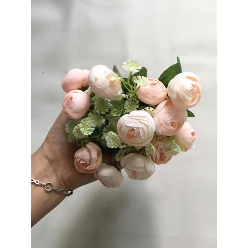 Hoa giả- cành hoa trà nhỏ trang trí để bàn