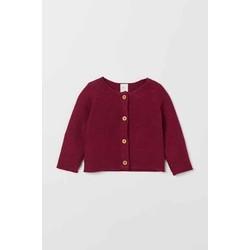 áo len đỏ cài khuy
