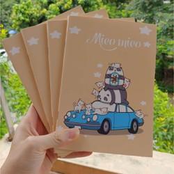 1 quyển vở Mieo Mieo khổ A5 bìa cán mờ siêu đẹp