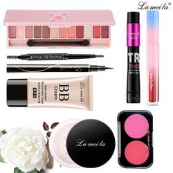 Bộ trang điểm Lameila 8 món chính hãng nội địa Trung set trang điểm cá nhân bộ makeup chuyên nghiệp