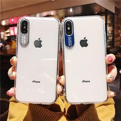 Ốp lưng iPhone XS Max bảo vệ Camera - Trong suốt - Viền nhựa dẻo - Mặt lưng nhựa cứng, không bị vàng ố - Ốp lưng iPhone XS Max silicon