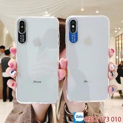 Ốp lưng iPhone X & XS bảo vệ Camera - Trong suốt - Viền nhựa dẻo Mặt lưng nhựa cứng, không bị vàng ố - Ốp lưng iPhone X - XS silicon