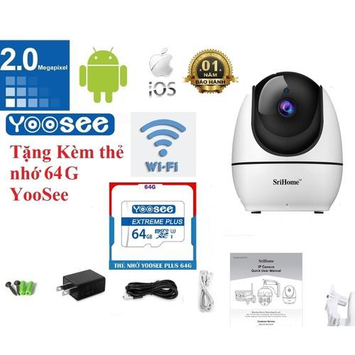 [Tặng thẻ nhớ 64g yoosee ] camera srihome sh026 wifi 1080p không dây hd 2.4g thông minh mạng ip phích cắm au - 19714646 , 24839902 , 15_24839902 , 700000 , Tang-the-nho-64g-yoosee-camera-srihome-sh026-wifi-1080p-khong-day-hd-2.4g-thong-minh-mang-ip-phich-cam-au-15_24839902 , sendo.vn , [Tặng thẻ nhớ 64g yoosee ] camera srihome sh026 wifi 1080p không dây hd 2.