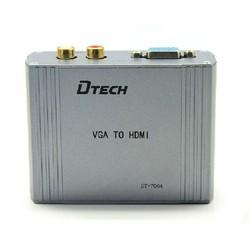 VGA TO HDMI CONVETER DTECH DT-7004 Hàng chính hãng