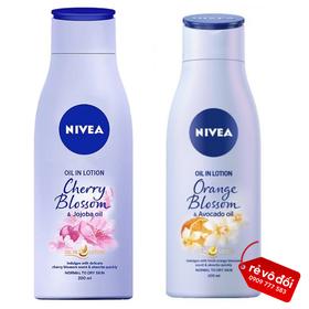 [GIAO 3H HCM] Combo 2 chai sữa dưỡng thể hương hoa Nivea 200ml - Hàng công ty - Combo 2 Nivea lotion200ml