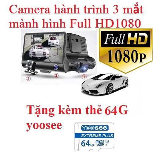 [ tặng kèm thẻ nhớ 64g yoosee ] camera hành trình ô tô 3 mắt camera, màn hình 4 inh full hd 1080, camera xe hơi , camera hành trình otofun , camera hành trình nhật bản 2 cam trước sau cho ô tô - hình  - 19727990 , 24856744 , 15_24856744 , 700000 , -tang-kem-the-nho-64g-yoosee-camera-hanh-trinh-o-to-3-mat-camera-man-hinh-4-inh-full-hd-1080-camera-xe-hoi-camera-hanh-trinh-otofun-camera-hanh-trinh-nhat-ban-2-cam-truoc-sau-cho-o-to-hinh-anh-chan-thuc-ch