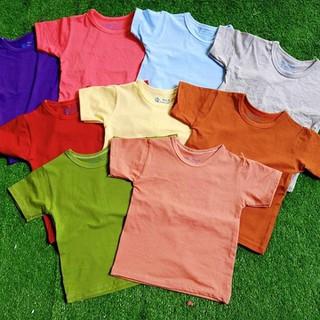 Set 5 áo thun trơn bé trai bé gái